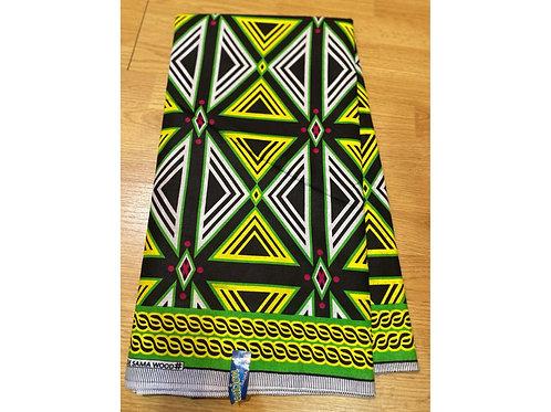 African Wax Print 6 yards/ Ankara fabric/ Green Electric ankara/