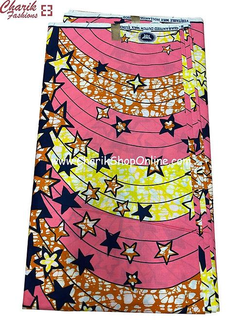 African Wax Print  6 yards/ Ankara fabric/ Twilight Stars ankara/