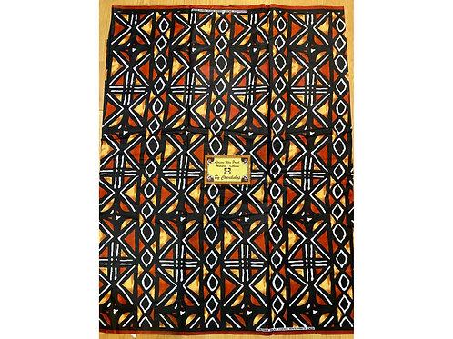 African Wax Print 6 yards/ Ankara fabric/ Burnt Orange Mudcloth ankara/ Active