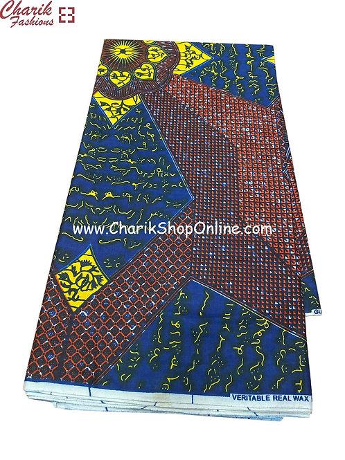 African Wax Print  6 yards/ Ankara fabric/ Glyphs ankara/