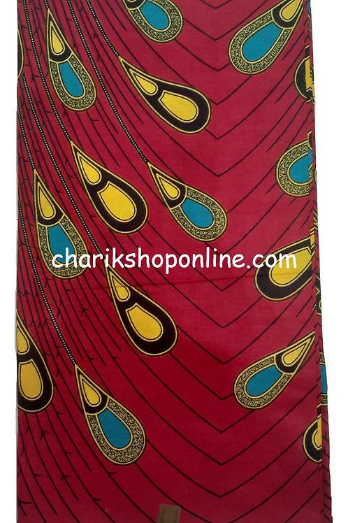 African Wax Print 6 yards/ Ankara fabric/ Yellow Drip ankara/