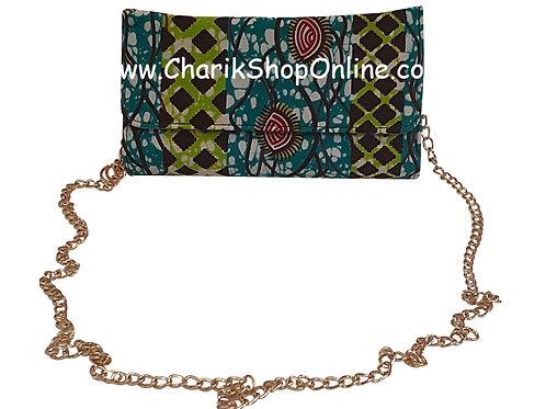 Ankara purse/ kente purse/ Ankara bag/African print bag Green Lime