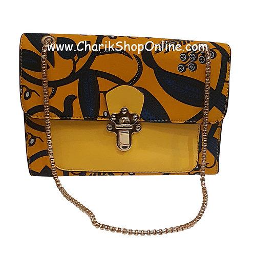 Ankara purse/ kente purse/ Ankara bag/African print bag Yellow Blue