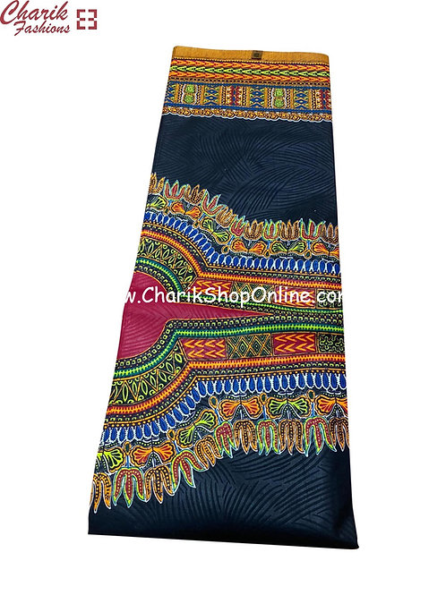 African Wax Print  6 yards/ Ankara fabric/ Dark Blue Dashiki Angelina ankara/