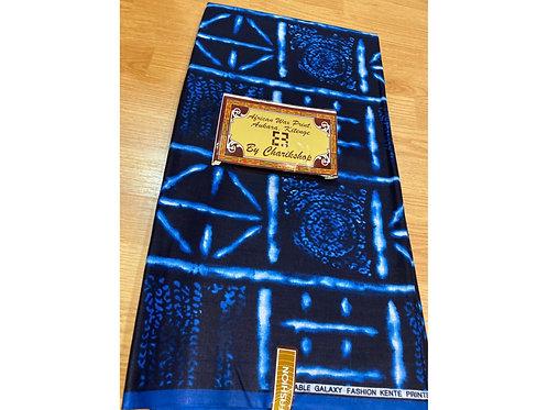 African Wax Print 6 yards/ Ankara fabric/ Blue Electric ankara/