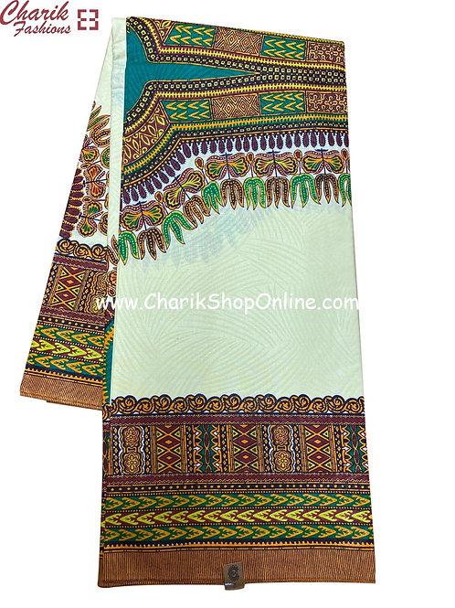 African Wax Print  6 yards/ Ankara fabric/ White dashiki Angelina ankara/