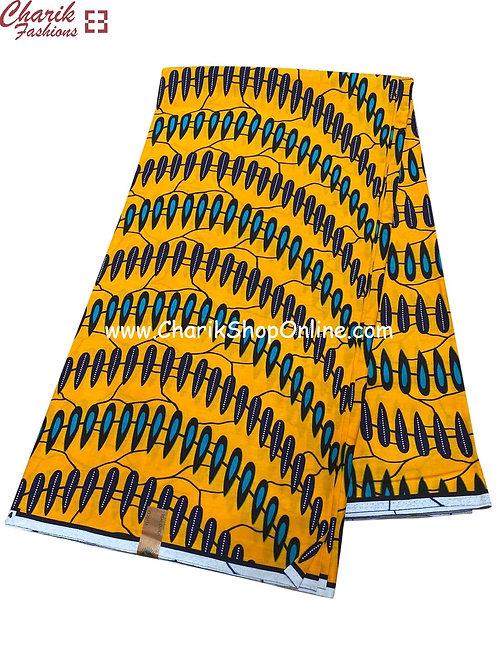 African Wax Print  6 yards/ Ankara fabric/ wavy ankara/