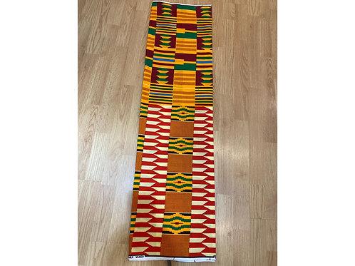 African Wax Print 6 yards/ Ankara fabric/ Red White ankara/