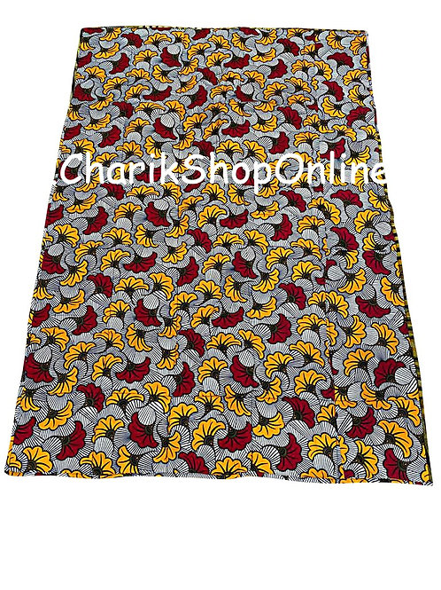 African print blanket Red Yellow Bloom