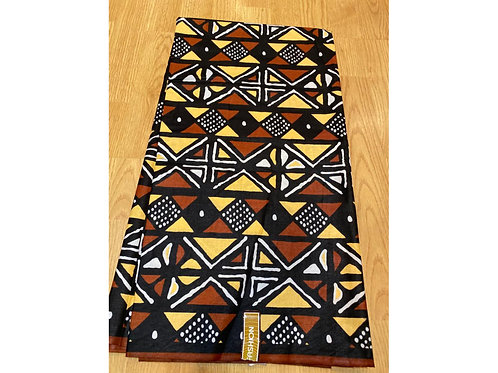 African Wax Print 6 yards/ Ankara fabric/ Clove Mudcloth ankara/