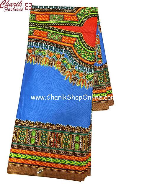 African Wax Print  6 yards/ Ankara fabric/ Blue dashiki angelina ankara/