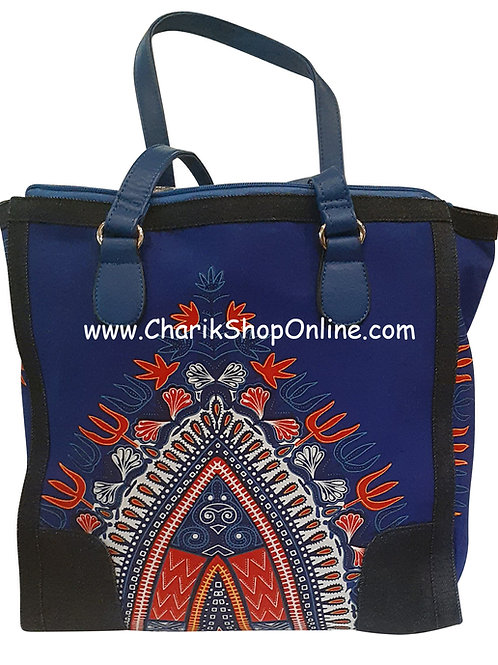 Ankara purse/ Dashiki purse/ Ankara bag/African print bag Blue