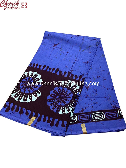 African Wax Print  6 yards/ Ankara fabric/ Blue Drip ankara/