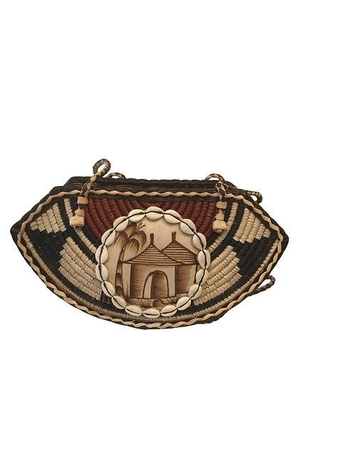 Ankara African Rope & Leather Half Moon Tote Bag #7