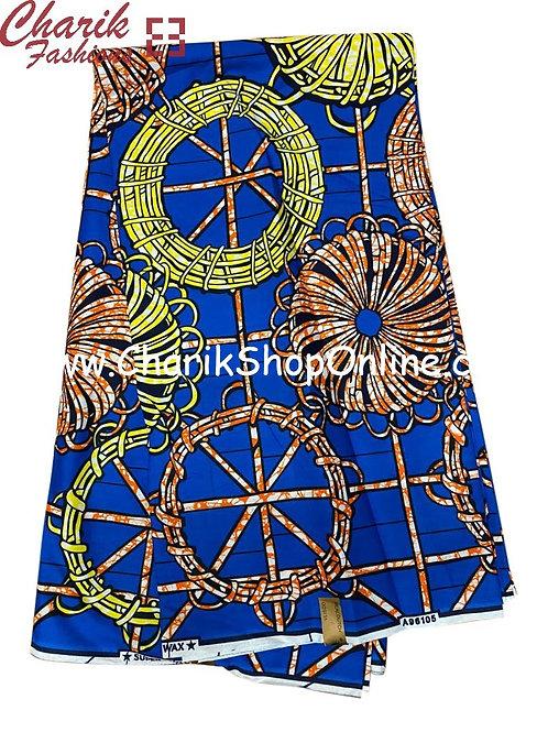 African Wax Print  6 yards/ Ankara fabric/ Yellow Steer ankara/