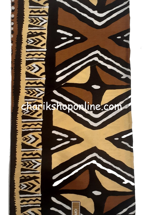 African Fabric 6 Yards/ Mudcloth Print /Journey Bogolan Print