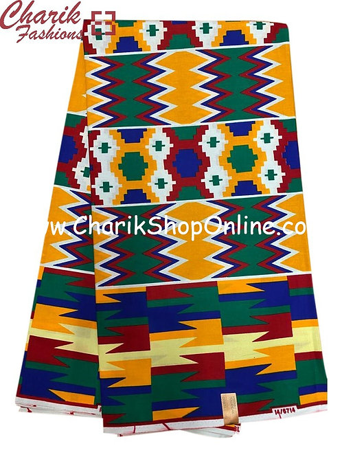 African Wax Print  6 yards/ Ankara fabric/ Kente Fashion/