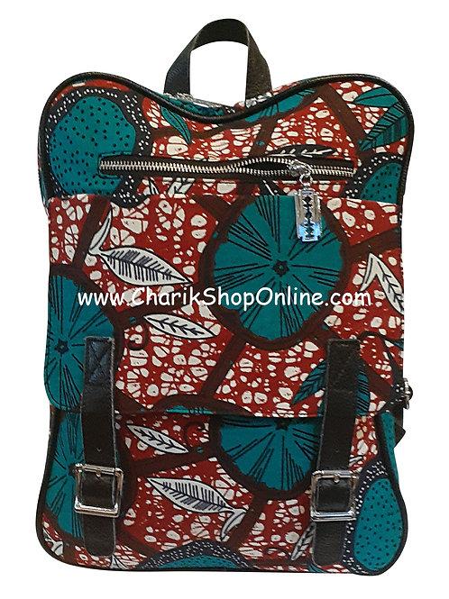 Ankara tote/ kente tote/ Ankara bag/African print bag Teal Maroon