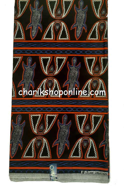 Atoghu Ndop Print 6 Yards Lead Ankara Fabric Cameroon Traditional Bamileke Bami