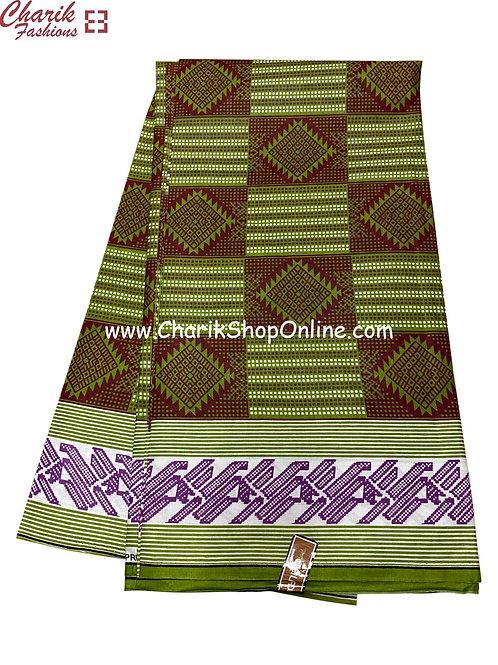 African Wax Print  6 yards/ Ankara fabric/ Olive ankara/