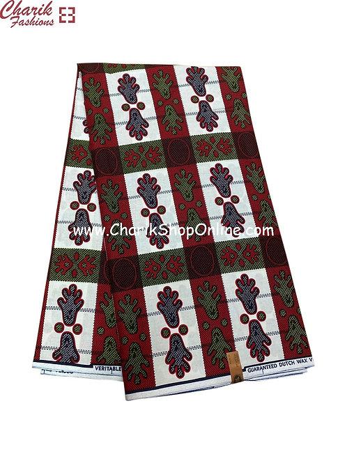 African Wax Print  6 yards/ Ankara fabric/ Footprint ankara/