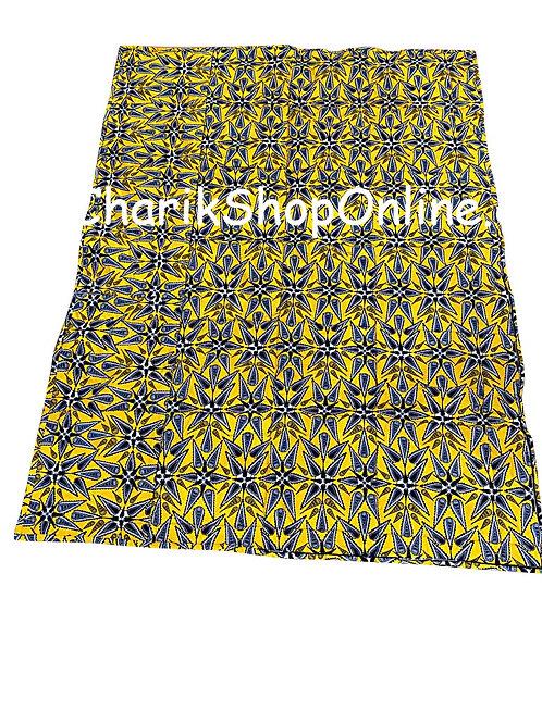 African print blanket Blue Star