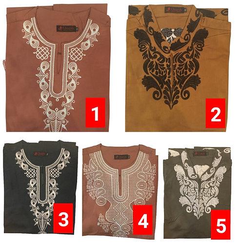 2 African embroidered dashiki men's shirt Size 2XLSet #3
