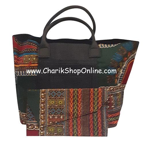 Ankara purse/ large dashiki handbag reversible denim/ Ankara bag Burgundy