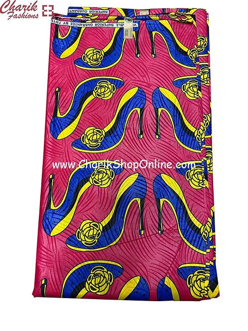 African Wax Print  6 yards/ Ankara fabric/ Happy Heels ankara/