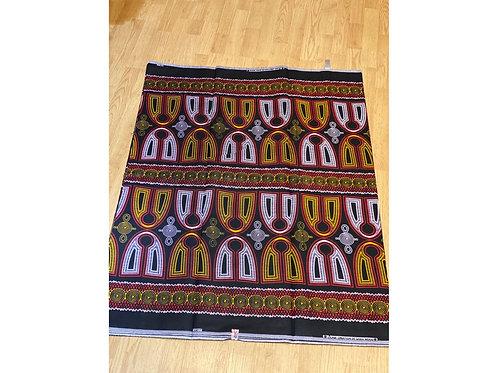 African Wax Print 6 yards/ Ankara fabric/ Yellow White Cristos ankara/
