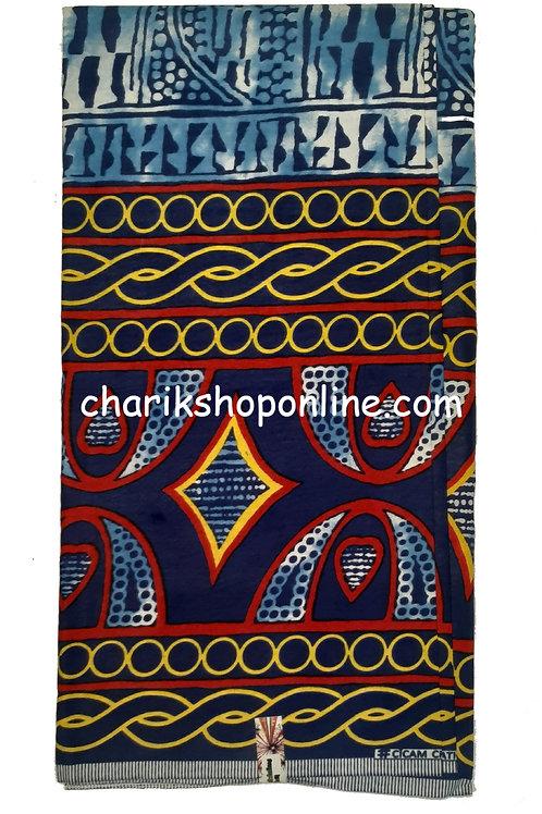 Atoghu Ndop Print 6 Yards Rush Ankara Fabric Cameroon Traditional Bamileke Bami