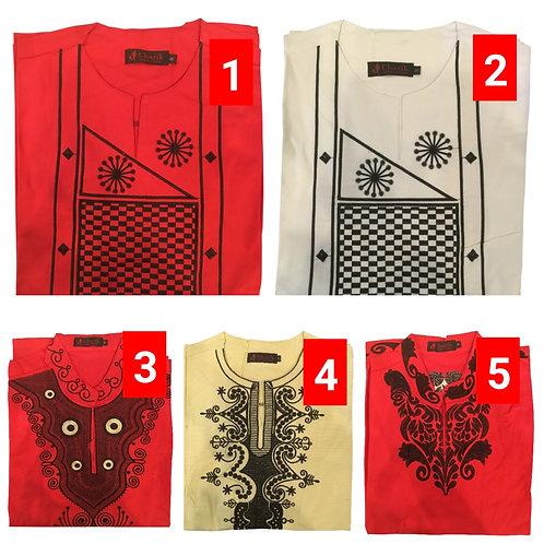 1 African embroidered dashiki men's shirt Size Medium Set #4