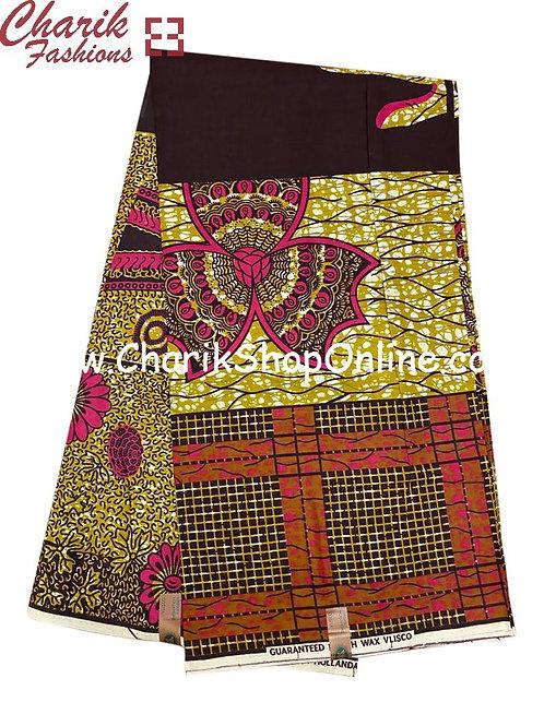 African Wax Print  6 yards/ Ankara fabric/ Pink Rubix ankara/