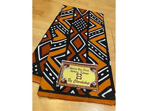 African Wax Print 6 yards/ Ankara fabric/ Brown White Dot Mudcloth ankara/