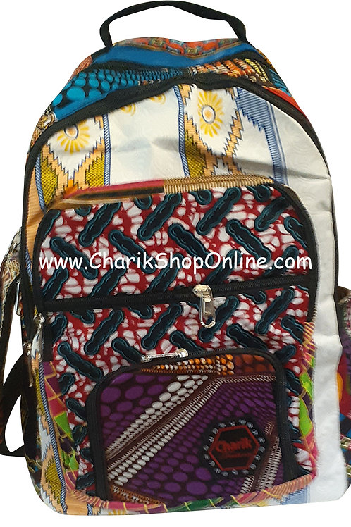 Ankara Print African Print Backpack Purple Pouch