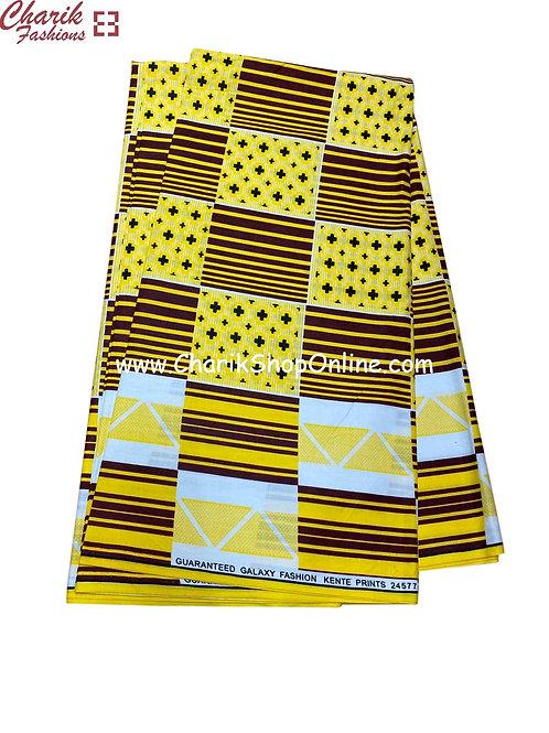 African Wax Print  6 yards/ Ankara fabric/ Zig zag stripe ankara/