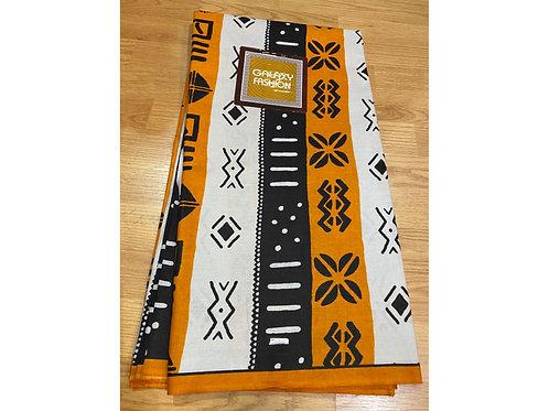 African Wax Print 6 yards/ Ankara fabric/ Black Butterfly ankara/