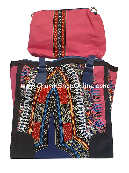 Ankara purse/ Dashiki purse/ Ankara bag/African print bag Magenta