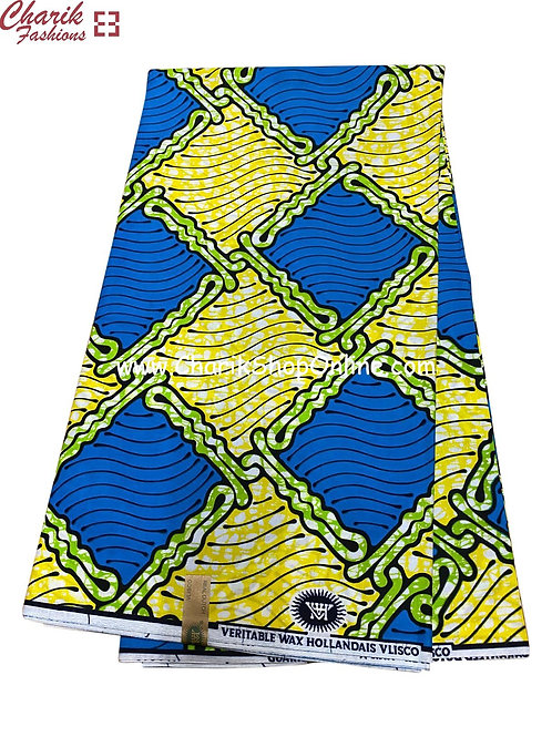 African Wax Print  6 yards/ Ankara fabric/ Blue Box ankara/