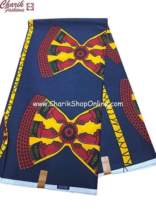 African Wax Print  6 yards/ Ankara fabric/ Point ankara/