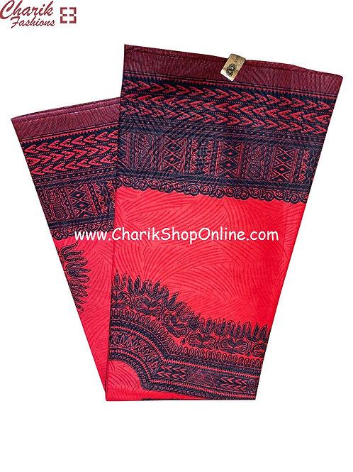 African Wax Print  6 yards/ Ankara fabric/ Red dashiki angelina ankara/