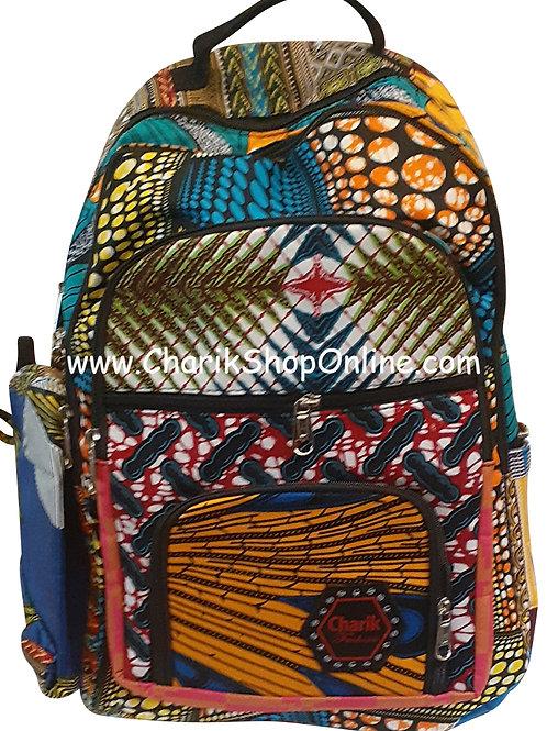 Ankara Print African Print Backpack Olive Branch