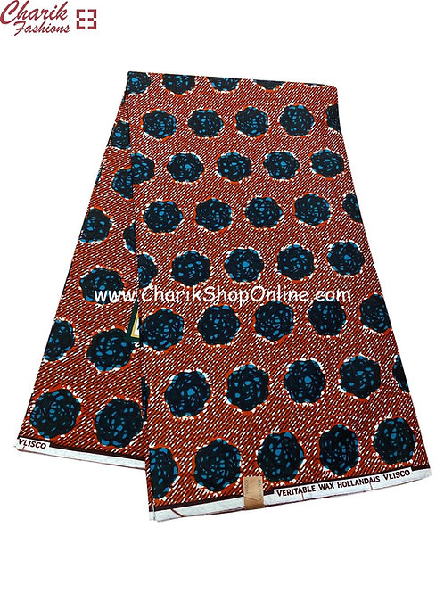 African Wax Print  6 yards/ Ankara fabric/ Blue sphereankara/