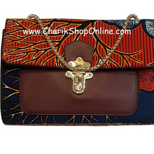 Ankara purse/ kente purse/ Ankara bag/African print bag Blue Maroon