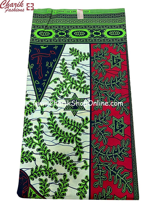 African Wax Print  6 yards/ Ankara fabric/ White 6 star ankara/