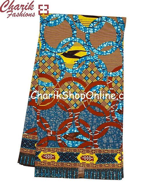 African Wax Print  6 yards/ Ankara fabric/ Bird In Sun ankara/