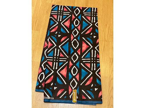 African Wax Print 6 yards/ Ankara fabric/ Magenta Blue Ensign ankara/