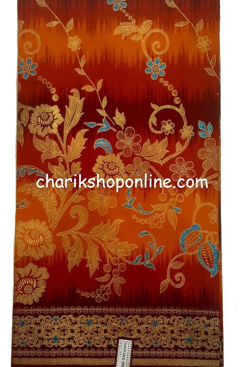 African Wax Print 6 yards/ Ankara fabric/ Raised Sienna Bloom ankara/