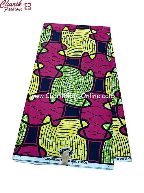 African Wax Print  6 yards/ Ankara fabric/ Purple Beat ankara/