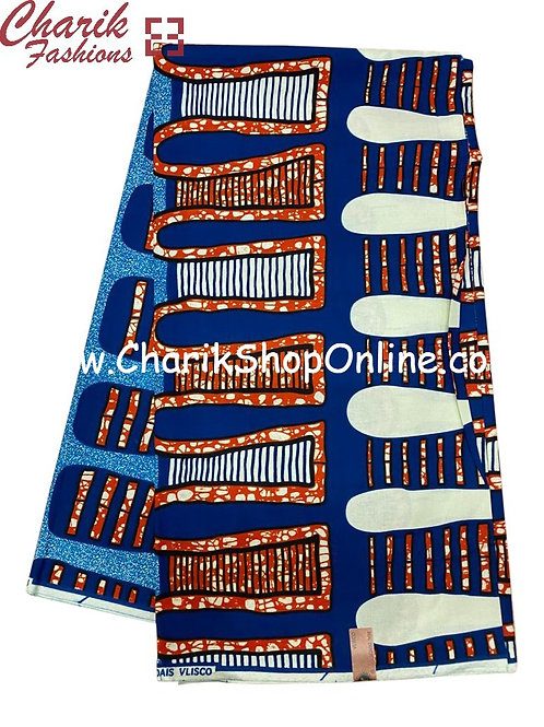 African Wax Print  6 yards/ Ankara fabric/ White  Tips ankara/